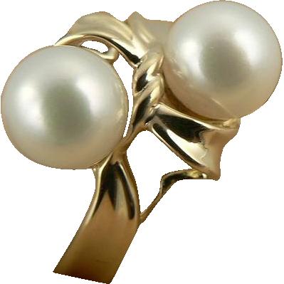 Elegant 7mm Freshwater Cultured Pearl Ring~14k~Size 7.