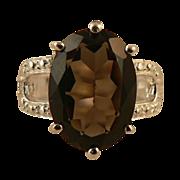 5.5cwt Smokey Quartz Ring -~Sterling ~ Size 7.