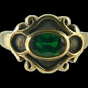 Lovely Green Tourmaline Ring~14k~Size 8.