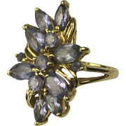 Outstanding 14k Tanzanite Ring, Size 7.