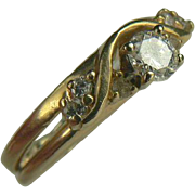 14k Diamond Ring-Size 6.