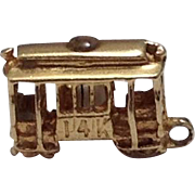 14K Gold San Francisco Trolly Travel Charm