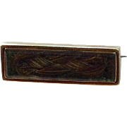 14K Victorian Mourning Hair Brooch ~ Inscribed ' My Father '