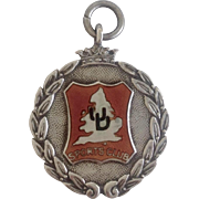 Vintage English Sports Club Sterling Fob c1931