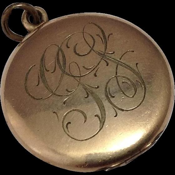Vintage GF Locket ~ 1920's Era ~ Monogrammed
