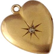10K Gold Heart Locket