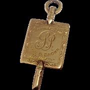 Antique 14K Gold Phi Beta Kappa Key ~ Rutgers Calvin S. Brown