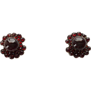 Antique Garnet Vermeil Earrings ~ Screw Backs