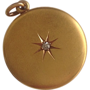 Antique 14K Gold & Diamond Locket