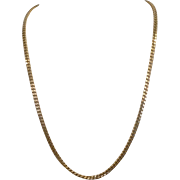 "Estate 14K Yellow Gold 22"" Curb Link Chain"