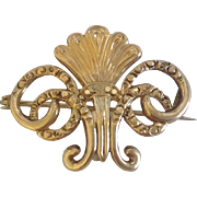 Ornate Victorian Watch Pin