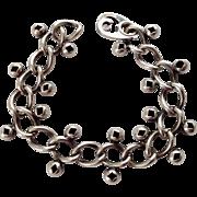 Modernist Sterling Napier Link Bracelet