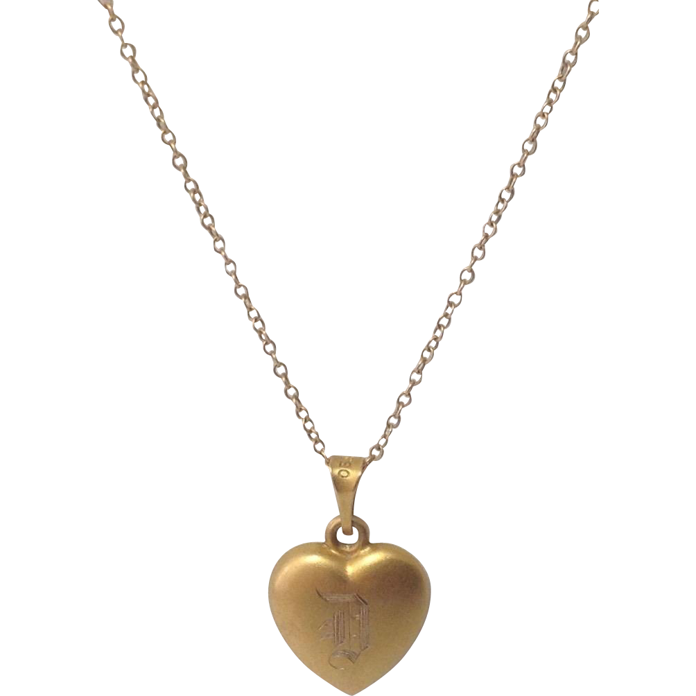 10K Gold Heart Pendant ~ For Baby or Child