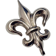 Vintage Sterling Fleur de Lis Watch Pin