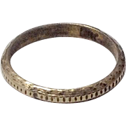 10K Antique Baby Ring Band