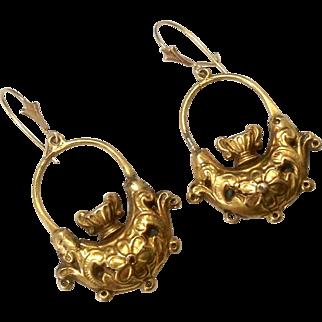 Antique Georgian Era 15K Gold Earrings ~ Urn Motif ~ c1800