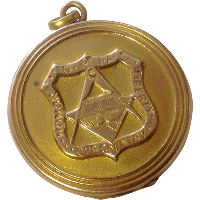 Vintage Masonic O of IA GF Locket