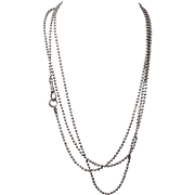 "Antique Gunmetal Muff Chain ~ 59"" Bead Link"