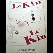 RARE 1920s Art Deco GAZETTE BON TON Pochoir Fashion Print & Mat Perfume Bottle Maker Franck