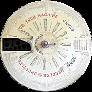Vintage 1907 Boye Needle Company Shuttle Store Display WITH Original Needles & Shuttles