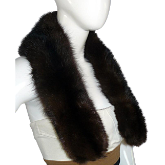 "Stunning 35"" Long Vintage *CONFIRMED GENUINE SABLE* Fur Stole Wrap Scarf Collar"