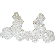 SPECTACULAR LARGE Antique Edwardian Victorian Lace Collar Ecru