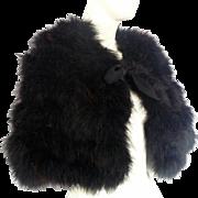 Vintage 1950s Women's Marabou BLACK Feather CAPE Stole Wrap Formal