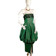 1950s Original vintage Stunning BUBBLE Evening Prom Dress Emma Domb Designer Sz 9