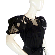 Stunnning 1930s FRENCH Evening Dress & Slip LARGE From Paris