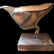 Unique Vintage Metal Brutalist BIRD Statue Mid Century Modern Art Sculpture