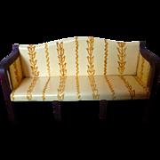 RARE Vintage TYNIETOY Tynie Toy Mahogany Painted Settee Sofa