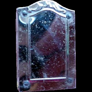 Vintage Tootsie Toy White Metal Medicine Cabinet Mirror