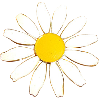 Vintage Daisy Pin Brooch
