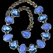 Designer Signed Frances Hirsch Necklace - Vintage Rhinestone Necklace