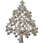 Vintage Eisenberg Ice Christmas Tree Brooch Pin