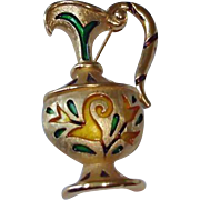 Vintage Crown Trifari Brooch Pin - L'Orient Collection from the 1960's - Ewer or Pitcher