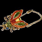 Vintage KRAMER Bug Bee Brooch Stick Pin