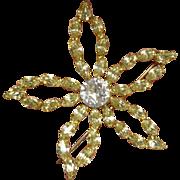 Vintage B David Star Brooch Pin