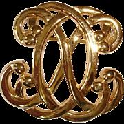 Vintage Swirl ANNE KLEIN Pin Brooch