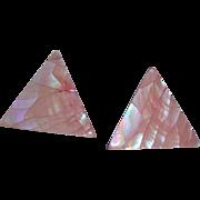 Vintage Pink Pierced Earrings