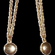 Two Petite Friendship Lockets - Tiny Gold Tone Lockets