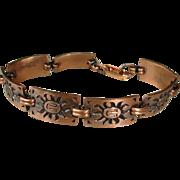 Vintage Aztec Design Copper Bracelet - Sun