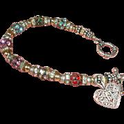 Vintage Estate Beaded Grand Mother Bracelet - Toggle Closure Bracelet
