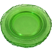 "Estate Green DEPRESSION Glass  9"" Plates  - Set of 8"