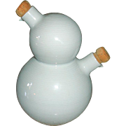 Vintage Rosenthal China Vinegar and Oil Server Storer Bottle - Germany THOMAS Trend White Pattern