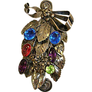 Signed  STUNNING HOBE Jewelry - Sterling Silver with Faceted Stones  - Vintage Hobe Brooch