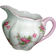 SHELLEY Fine Bone China - FLUTED Bridal Rose Creamer - England