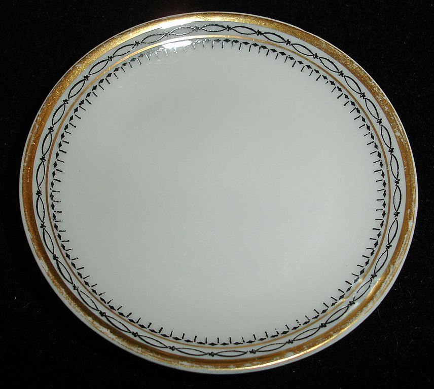 Antique Heinrich & Co. Porcelain Butter Pat - Antique Fine China