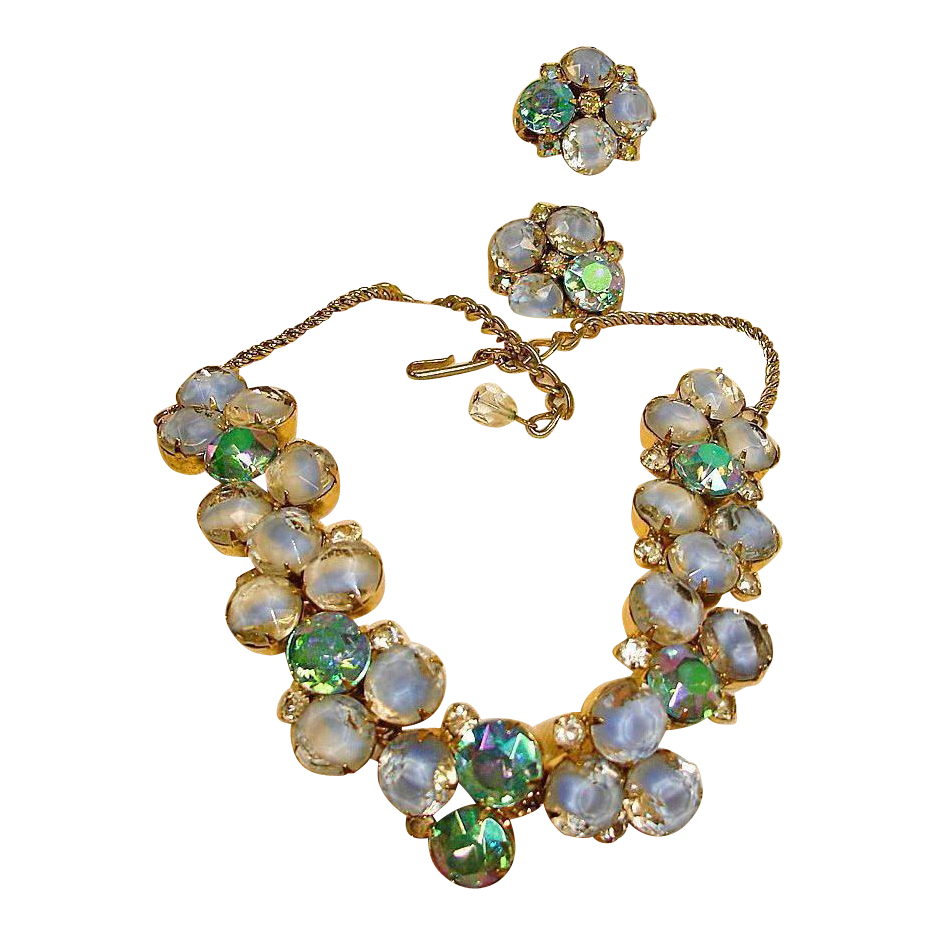 Hobe Necklace and Earrings Set - Vintage HOBE Demi Parure Jewelry