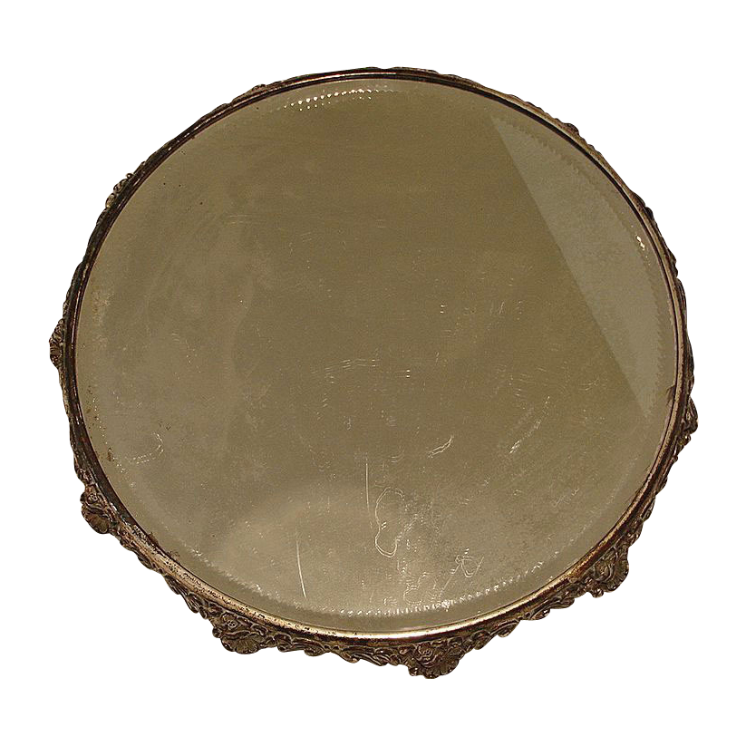 Ex - Large VICTORIAN Mirror Plateau - 14 Inches Across - Cake or Pastry Stand
